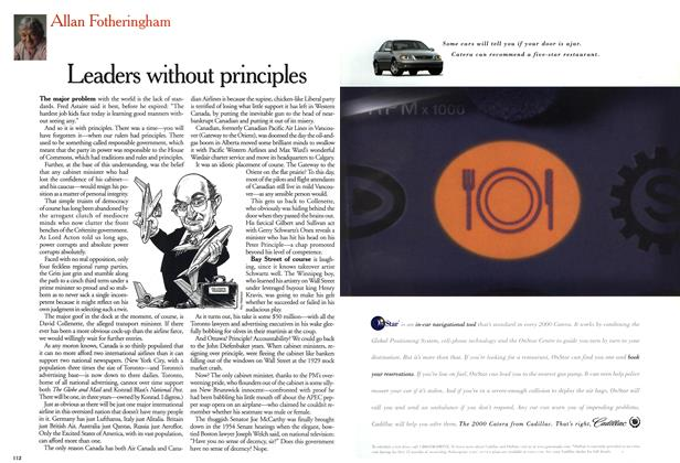Article Preview: Leaders without principles, November 1999 | Maclean's