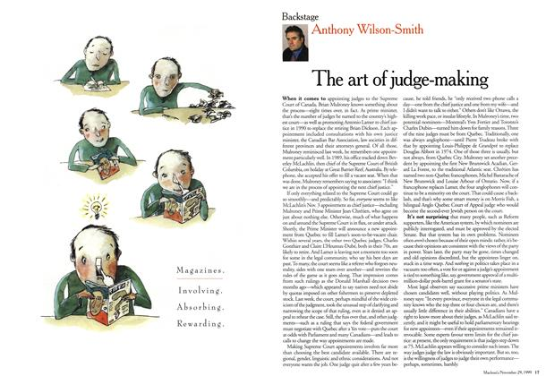 Article Preview: The art of judge-making, November 1999 | Maclean's