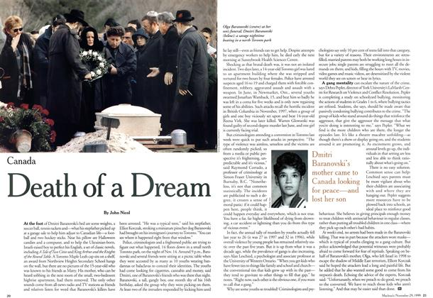 Article Preview: Death of a Dream, November 1999 | Maclean's