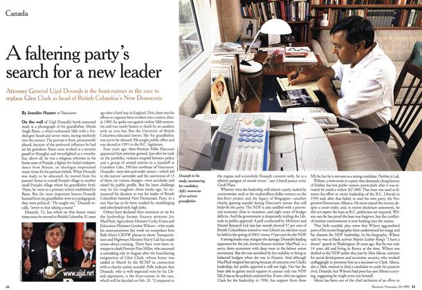 Article Preview: A faltering party's search for a new leader, November 1999 | Maclean's