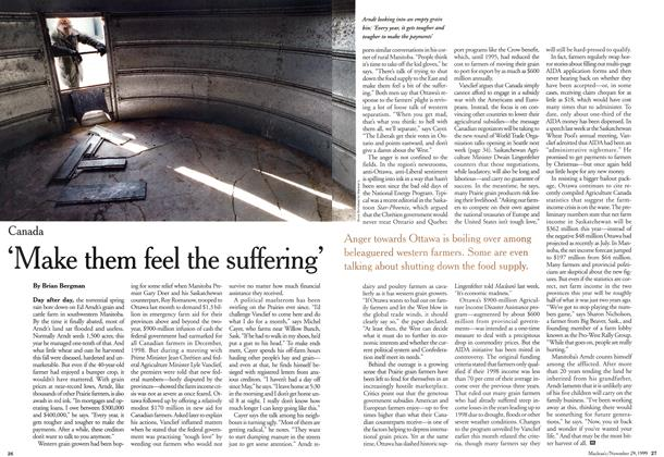 Article Preview: 'Make them feel the suffering', November 1999 | Maclean's