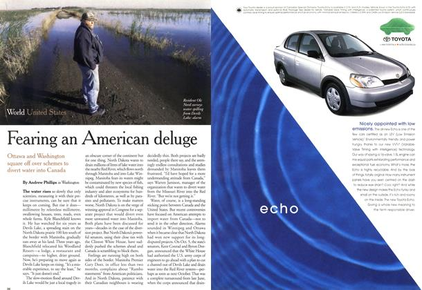 Article Preview: Fearing an American deluge, November 1999 | Maclean's