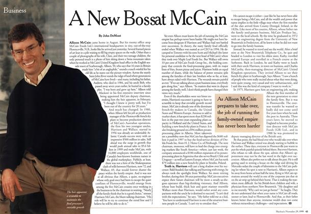 Article Preview: A New Boss at McCain, November 1999 | Maclean's