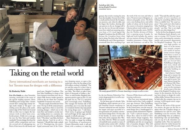 Article Preview: Taking on the retail world, November 1999 | Maclean's