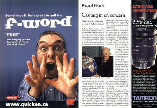 Article Preview: Cashing in on concern, November 1999 | Maclean's