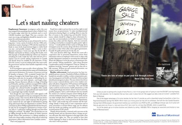 Article Preview: Let's start nailing cheaters, November 1999 | Maclean's