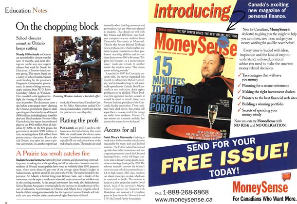 Article Preview: Education Notes, November 1999 | Maclean's
