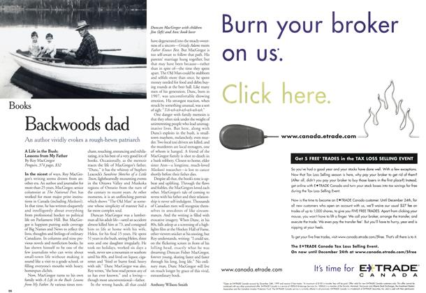 Article Preview: Backwoods dad, November 1999 | Maclean's