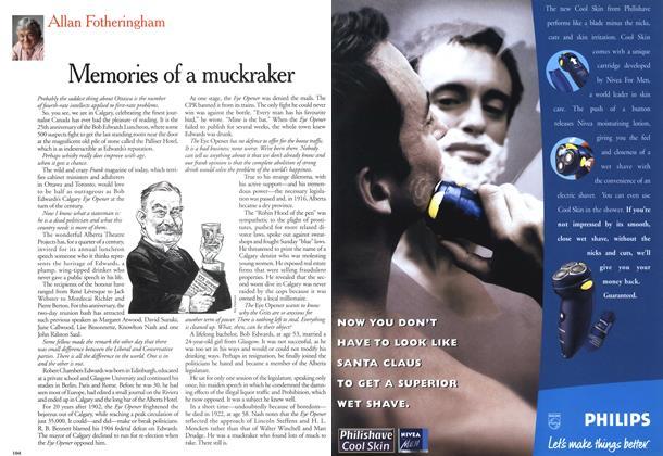 Article Preview: Memories of a muckraker, November 1999   Maclean's