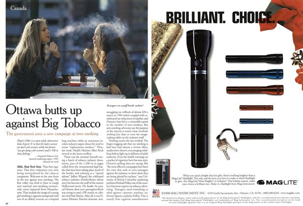 Article Preview: Ottawa butts up against Big Tobacco, December 1999 | Maclean's