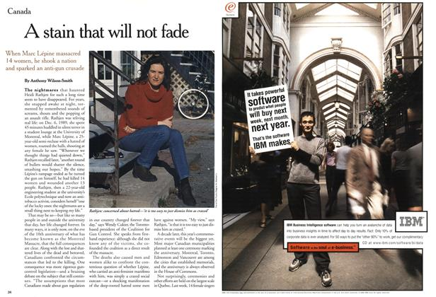 Article Preview: A stain that will not fade, December 1999 | Maclean's