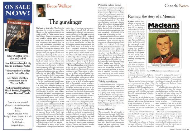 Article Preview: The gunslinger, December 1999   Maclean's