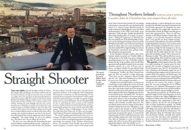 Article Preview: Straight Shooter, December 1999 | Maclean's