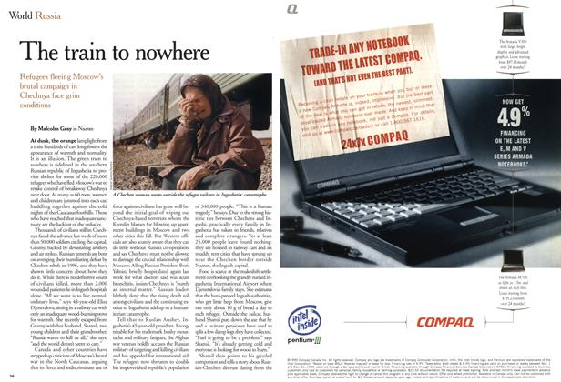 Article Preview: The train to nowhere, December 1999 | Maclean's