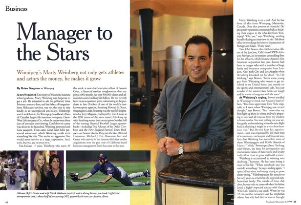 Article Preview: Manager to the Stars, December 1999 | Maclean's