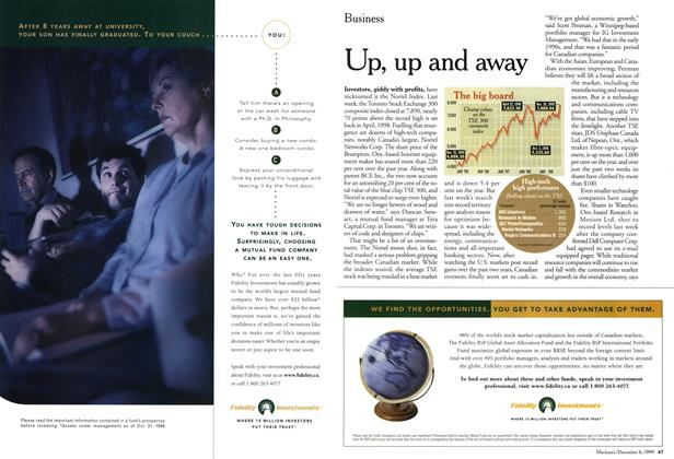 Article Preview: Up, up and away, December 1999 | Maclean's