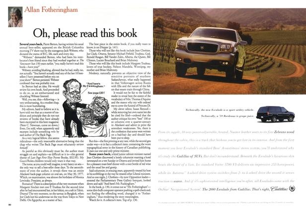 Article Preview: Oh, please read this book, December 1999 | Maclean's