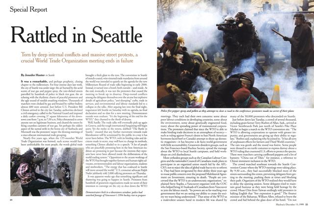 Article Preview: Rattled in Seattle, December 1999 | Maclean's