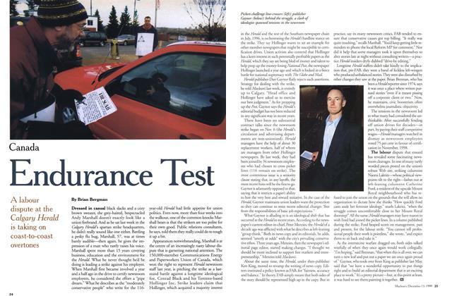 Article Preview: Endurance Test, December 1999 | Maclean's