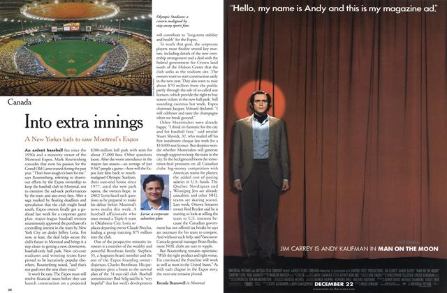 Article Preview: Into extra innings, December 1999 | Maclean's