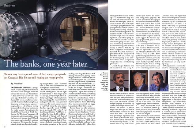 Article Preview: The banks, one year later, December 1999 | Maclean's