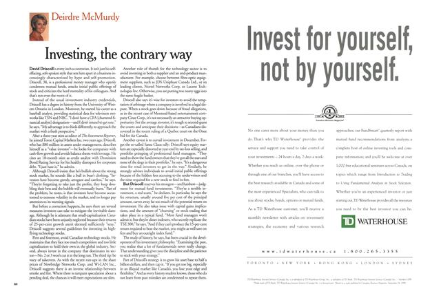 Article Preview: Investing, the contrary way, December 1999 | Maclean's