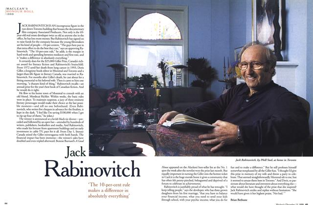 Article Preview: Jack Rabinovitch, December 1999 | Maclean's