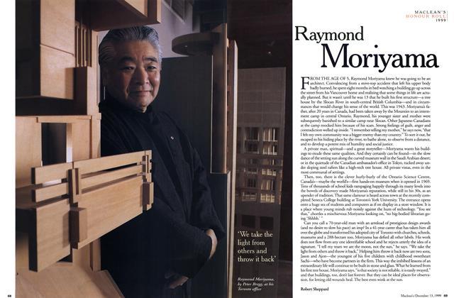 Article Preview: Raymond Moriyama, December 1999 | Maclean's