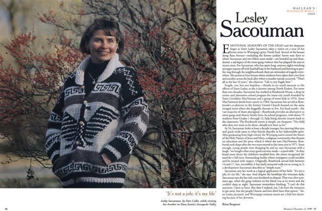 Article Preview: Lesley Sacouman, December 1999 | Maclean's