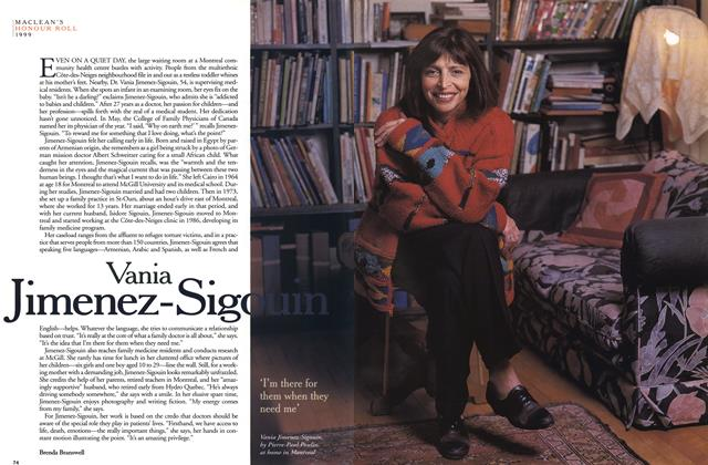 Article Preview: Vania Jimenez-Sigouin, December 1999 | Maclean's