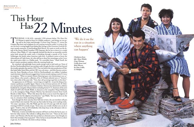 Article Preview: This Hour Has 22 Minutes, December 1999 | Maclean's