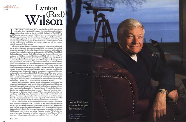 Article Preview: Lynton (Red) Wilson, December 1999 | Maclean's
