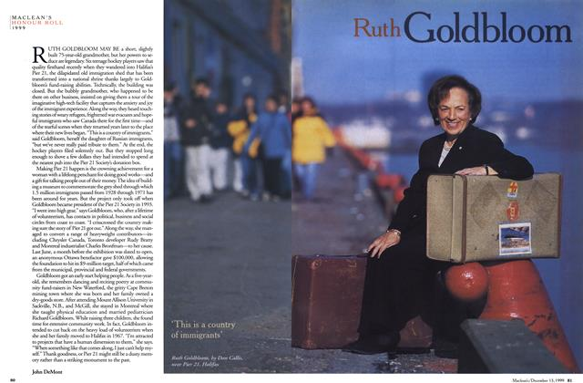 Article Preview: Ruth Goldbloom, December 1999 | Maclean's