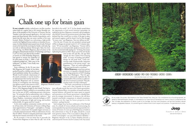 Article Preview: Chalk one up for brain gain, December 1999 | Maclean's