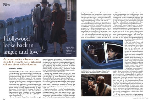 Article Preview: Hollywood looks back in anger, and love, December 1999 | Maclean's