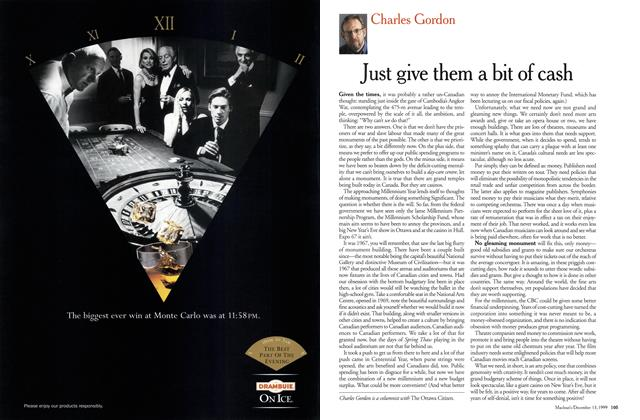 Article Preview: Just give them a bit of cash, December 1999 | Maclean's