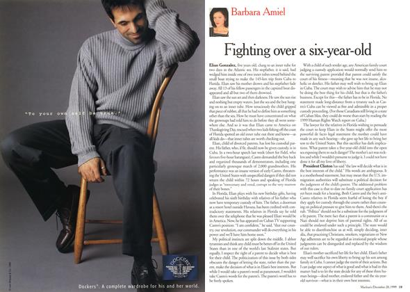 Article Preview: Fighting over a six-year-old, December 1999 | Maclean's