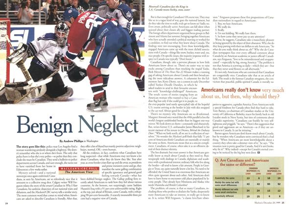Article Preview: Benign Neglect, December 1999 | Maclean's