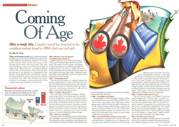 Article Preview: Coming Of Age, December 1999 | Maclean's