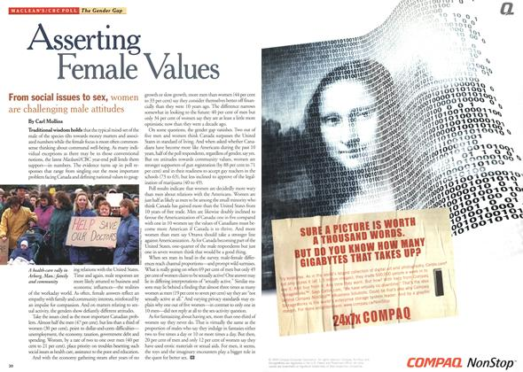 Article Preview: Asserting Female Values, December 1999 | Maclean's