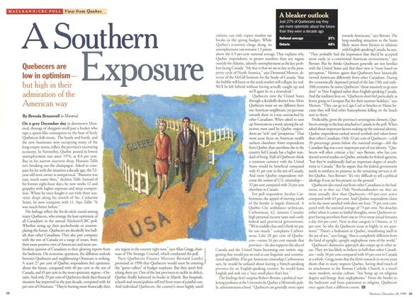 Article Preview: A Southern Exposure, December 1999 | Maclean's