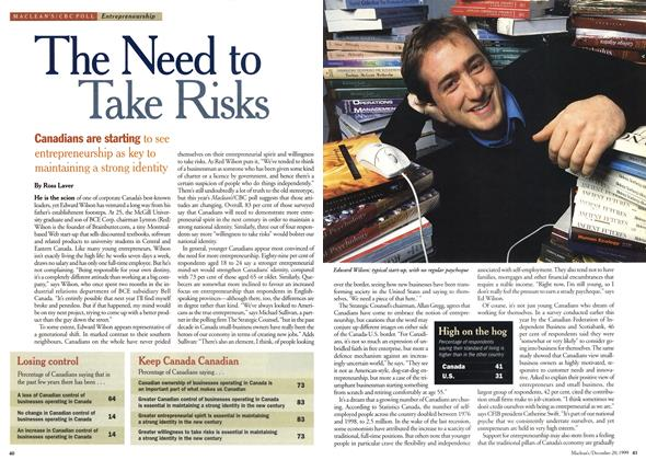 Article Preview: The Need to Take Risks, December 1999 | Maclean's