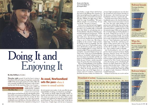 Article Preview: Doing It and Enjoying It, December 1999 | Maclean's