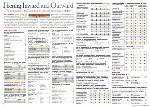 Article Preview: Peering Inward and Outward, December 1999 | Maclean's