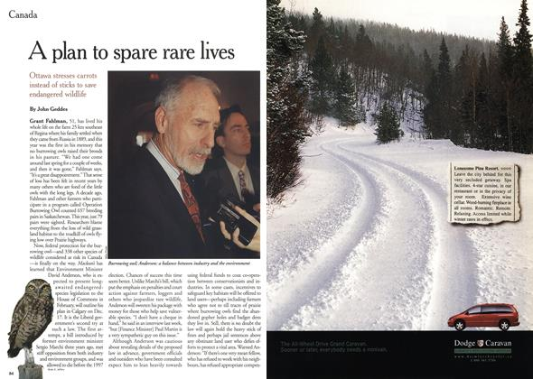 Article Preview: A plan to spare rare lives, December 1999 | Maclean's