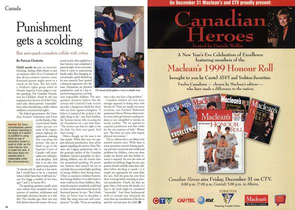 Article Preview: Punishment gets a scolding, December 1999 | Maclean's