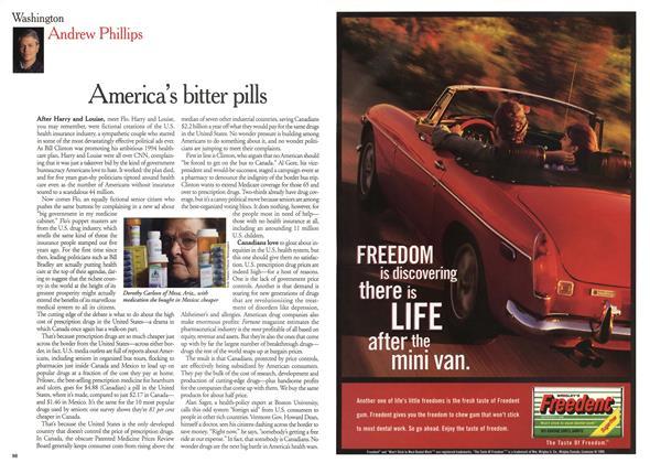 Article Preview: America's bitter pills, December 1999 | Maclean's