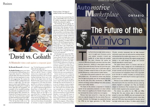 Article Preview: 'David vs. Goliath', December 1999 | Maclean's