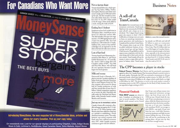 Article Preview: Business Notes, December 1999 | Maclean's