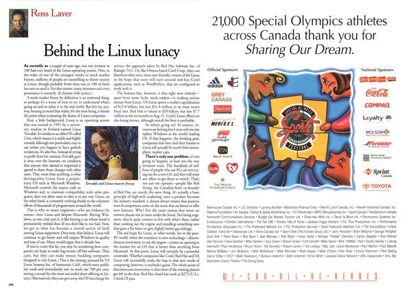Article Preview: Behind the Linux lunacy, December 1999 | Maclean's